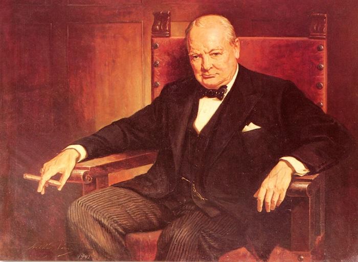 Уинстон Черчилль - премьер-министр Великобритании, политический деятель. | Фото: classicartpaintings.com.