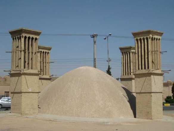 Сохранившееся здание иранского ледяного дома в Йезде.