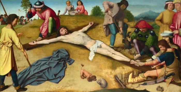 Распятие Христа. Автор: Gerard David.