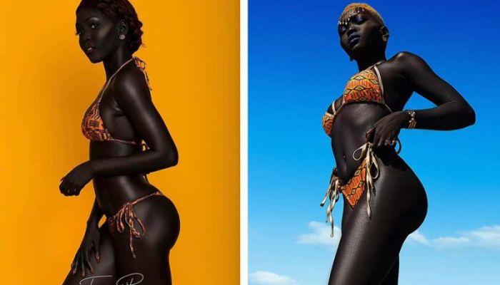Модель из Южного Судана учит людей не бояться темноты.