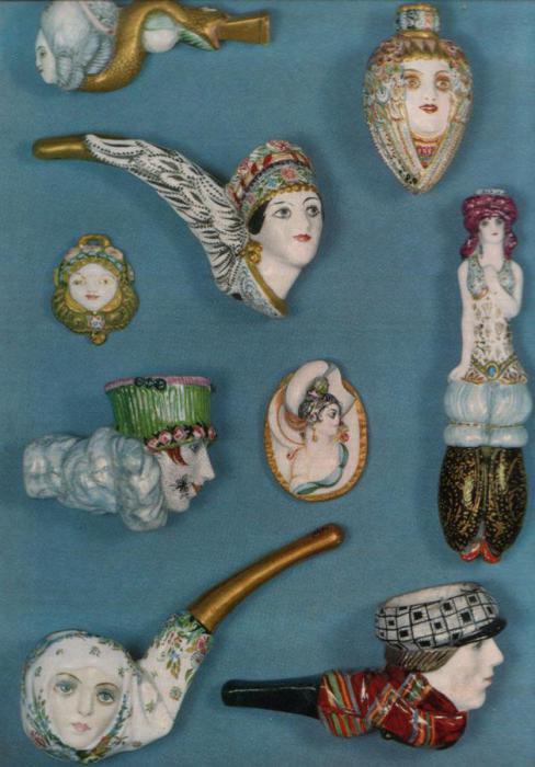 Многочисленные изделия ленинградского фарфорового завода им. М.В. Ломоносова, 1918-1921 года.