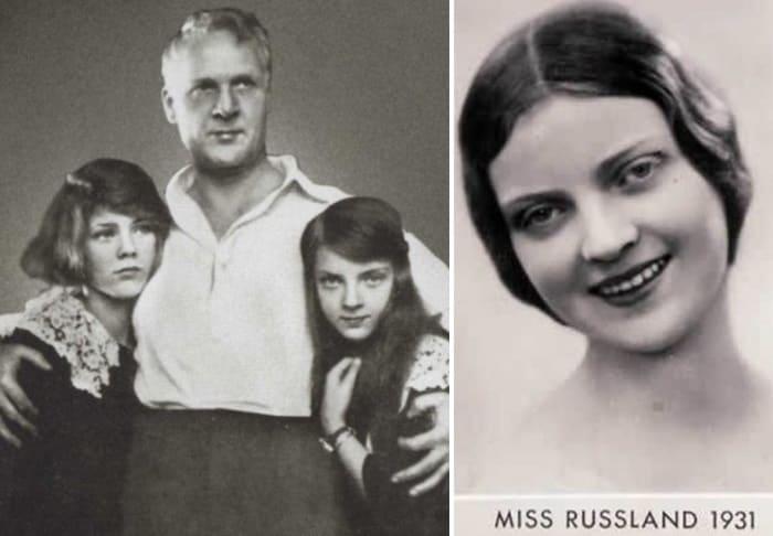 Федор Шаляпин с дочерьми Марфой и Мариной – самой красивой девушкой эмиграции | Фото: lib.rus.ec и top-antropos.com