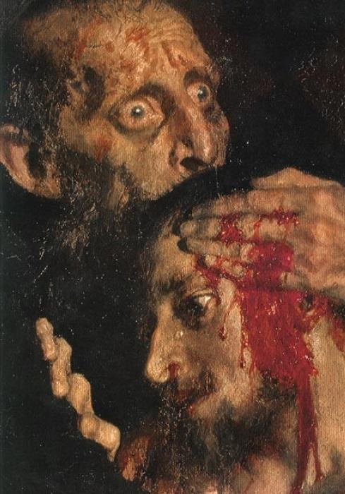Илья Репин. Иван Грозный и сын его Иван 16 ноября 1581 года, 1885. Фрагмент