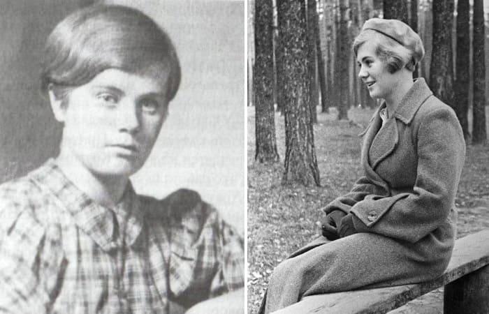 Героиня ВОВ Вера Волошина, имя которой узнали только спустя много лет после ее гибели, 1935 и 1940 | Фото: dnevniki.ykt.ru и pomnivoinu.ru