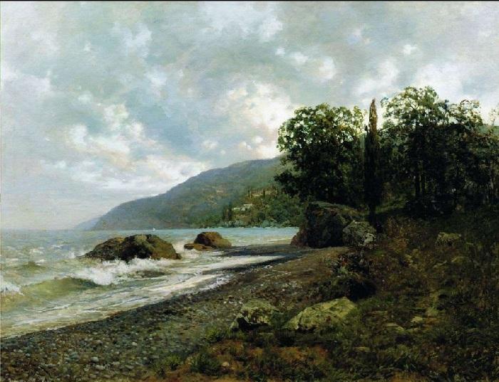 Крымский пейзаж.(1887 год). Автор: Исаак Левитан.