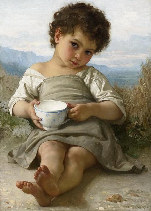 «Чашка молока». Автор: William Bouguereau.