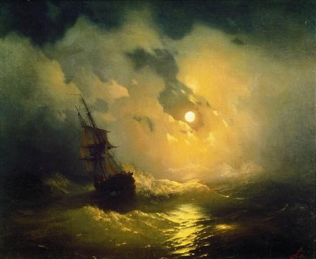 Буря на море ночью. 1849 год.