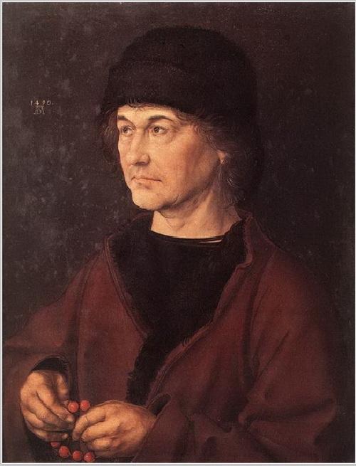Портрет отца художника. (1490). Дерево, масло. Автор А. Дюрер. ¦ Фото: livejournal.com.