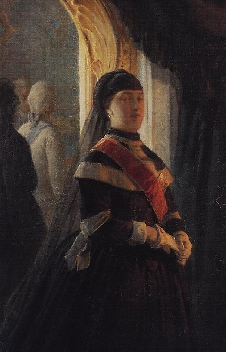 «Екатерина II у гроба императрицы Елизаветы». Фрагмент. Автор: Николай Ге.