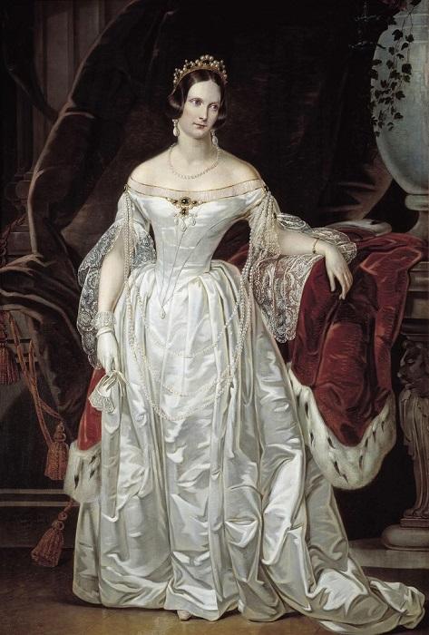 Кристина Робертсон. Портрет Александры Фёдоровны в сапфировой тиаре, 1841 г