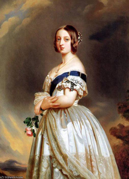 Франц Винтрехальтер, портрет молодой королевы Виктории