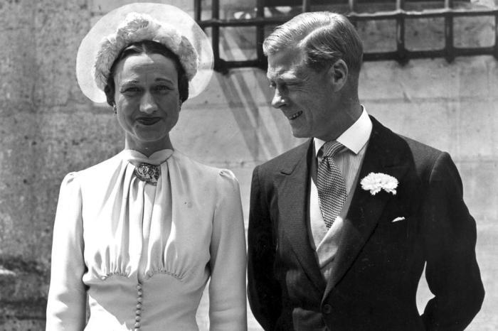 Свадебное фото: Эдуард VIII и Уоллис Симпсон, 3 июня 1937 г.