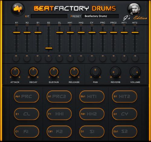Die Oberfläche des Beatfactory Drums