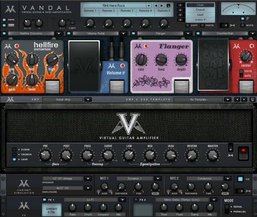 KVR Vandal Guitar Amp By MAGIX Distortion Overdrive
