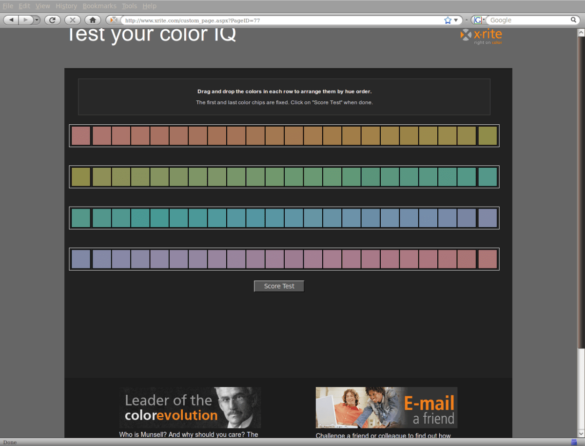 Color/Hue IQ Test