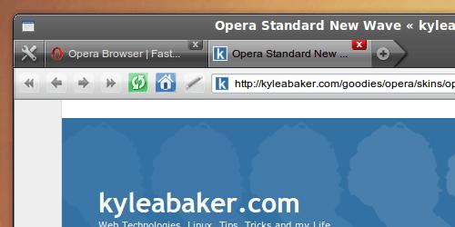 Ubuntu New Wave skin for Opera
