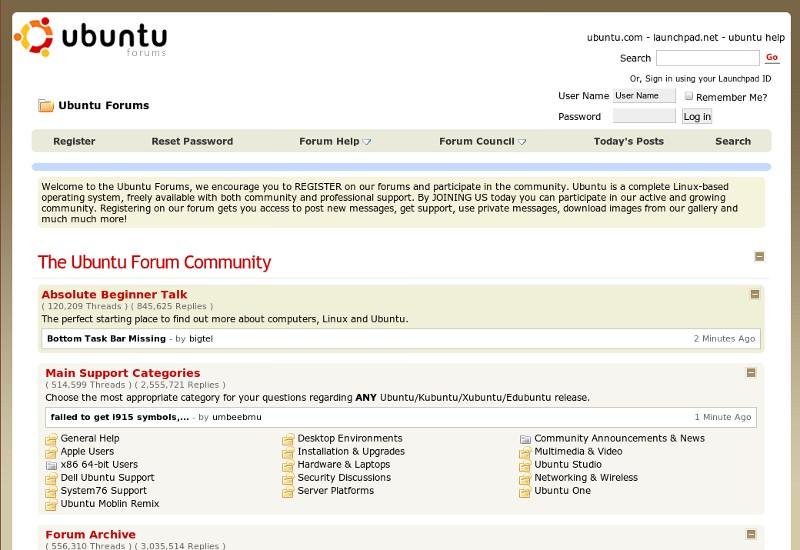 UbuntuForums.org Site Makeover via UserJS