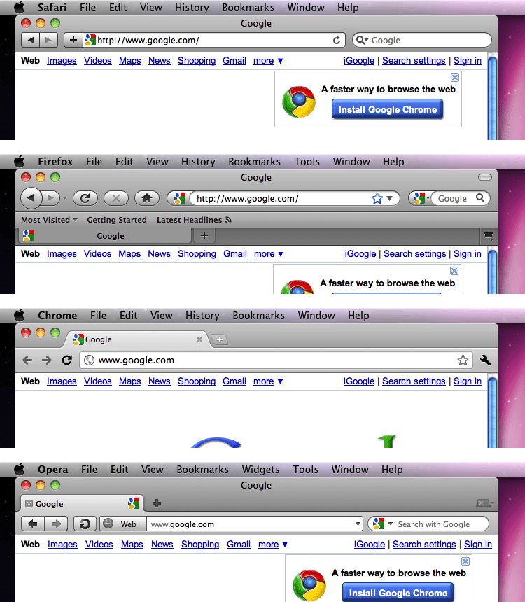 Opera 11 in OS X