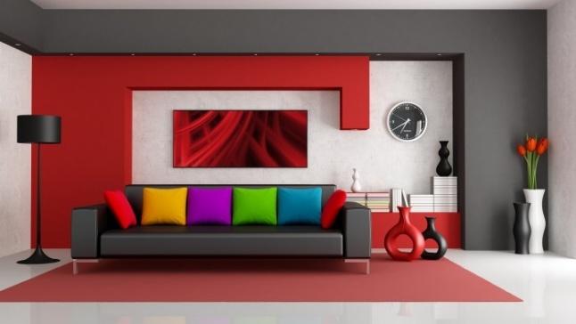 ألوان الديكور وتأثيرها على حالتك النفسية الأحمر للطاقة