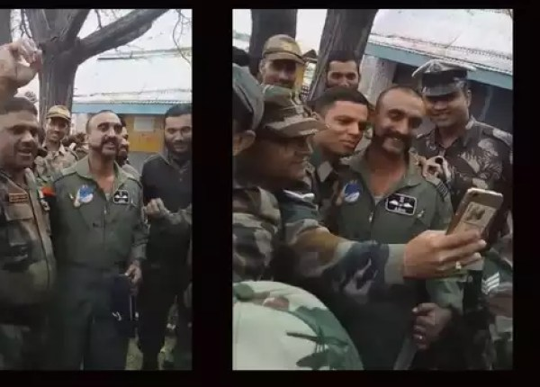 watch iaf colleagues take selfies photographs with wing commander abhinandan varthaman
