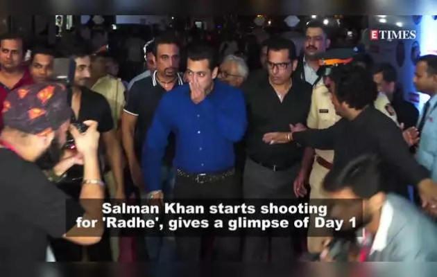 Salman's cool entry on the shooting set of the film 'Radhey'