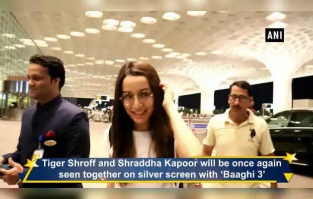 Tiger Shroff and Shraddha Kapoor leave for 'Baghi 3'