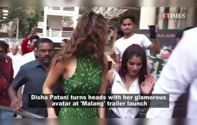 'Malang' actress Disha Patni wore a green shimmery dress