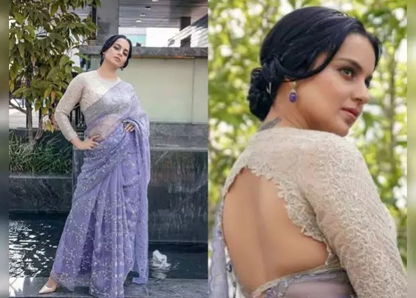 Organic saree with lace blouse
