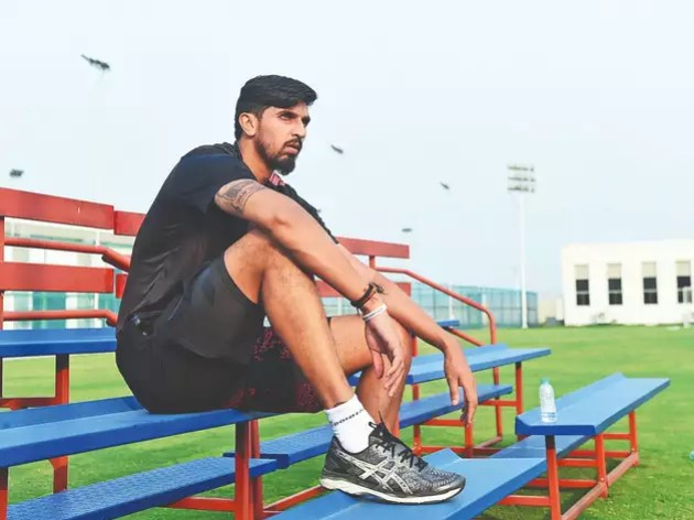 Pacer Ishant Sharma returns to practice after a break of three months