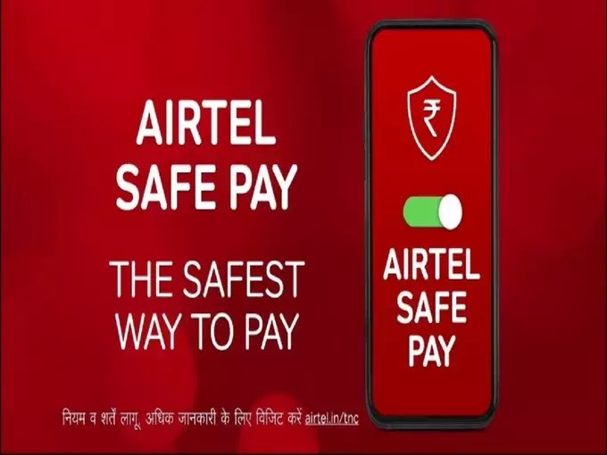 Airtel Safe Pay Launched For Digital Transactions 2