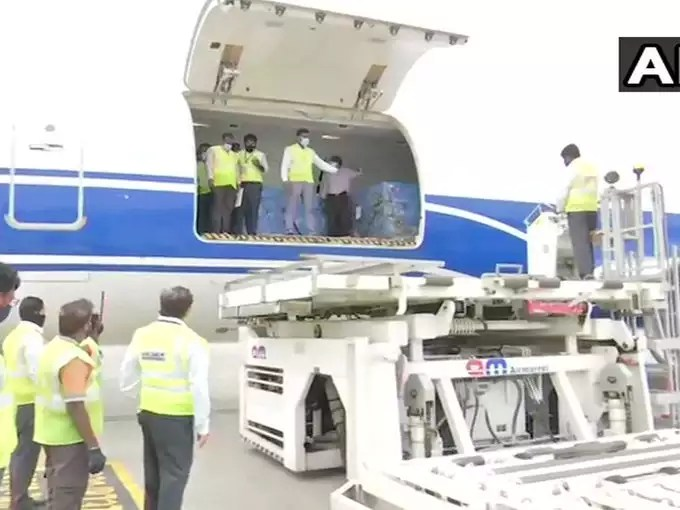 Russian vaccine arrived from Hyderabad aircraft