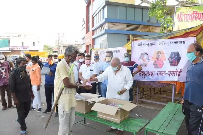 Vasundhara's public kitchen increased political heat, stir in both BJP and Congress
