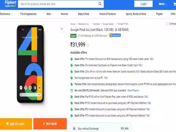 google pixel 4a offer