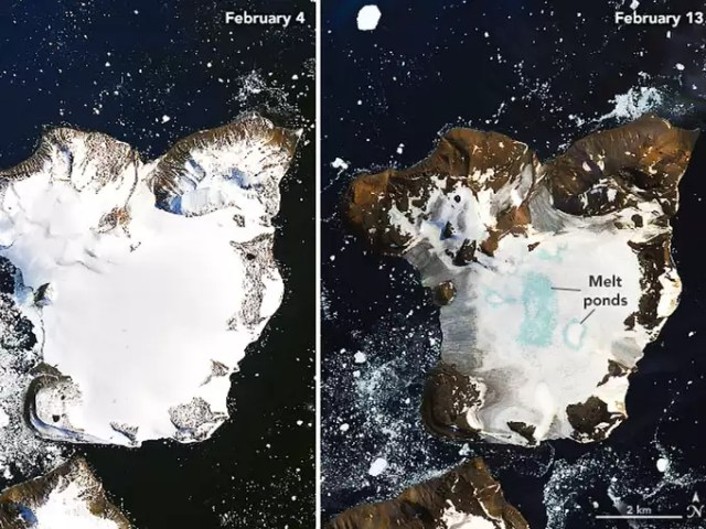 Ice is melting in Antarctica