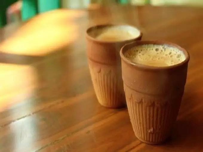 Kulhad Coffee & Green Chilli Tea from Udaipur