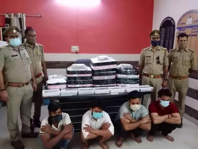अलीगढ़ः ऑफर के नाम पर ग्राहकों से करते थे ठगी, पुलिस ने फर्जी कॉल सेंटर का किया भंडाफोड़, 11 अरेस्ट