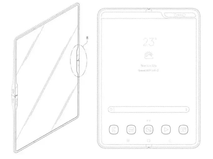 Samsung tablet with a flexible display cover..