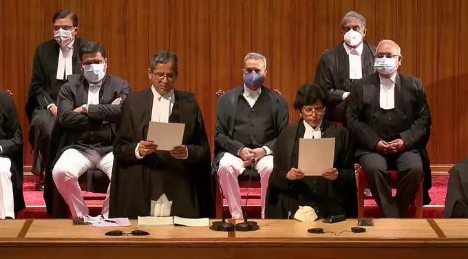 swearing ceremony at Supreme Court New Delhi