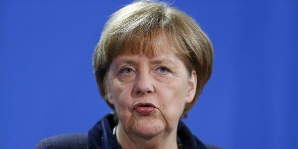 """Bruxelles, qui négocie le Tafta """"ne pourra tenir cette échéance que si elle sait pouvoir compter sur le soutien des États membres"""", a déclaré la chancelière. """"L'Allemagne en tout cas le lui garantit"""", a-t-elle assuré."""
