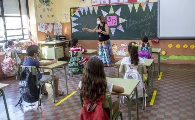 Students in a school in Cartagena, in a file photograph.