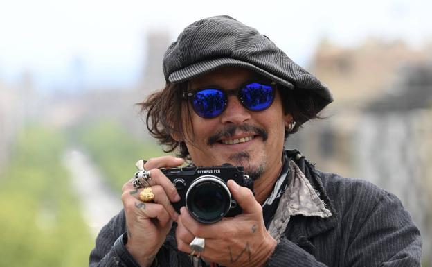 Johnny Depp, at the Barcelona Festival last April.