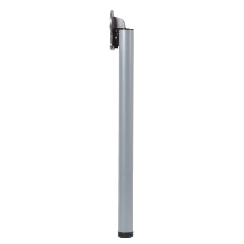 pied de table rabattable diametre 50 mm aluminium blanc fold