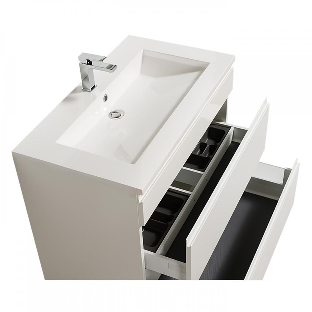 meuble de salle de bains reposant adele 90 cm 2 finitions