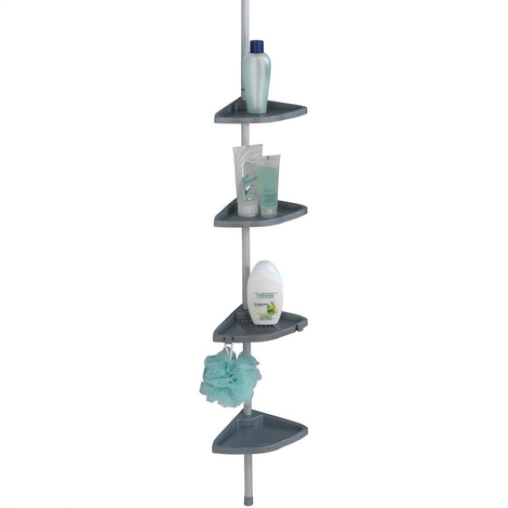 etagere de douche telescopique d angle 4 tablettes plastiques wenko sur bricozor