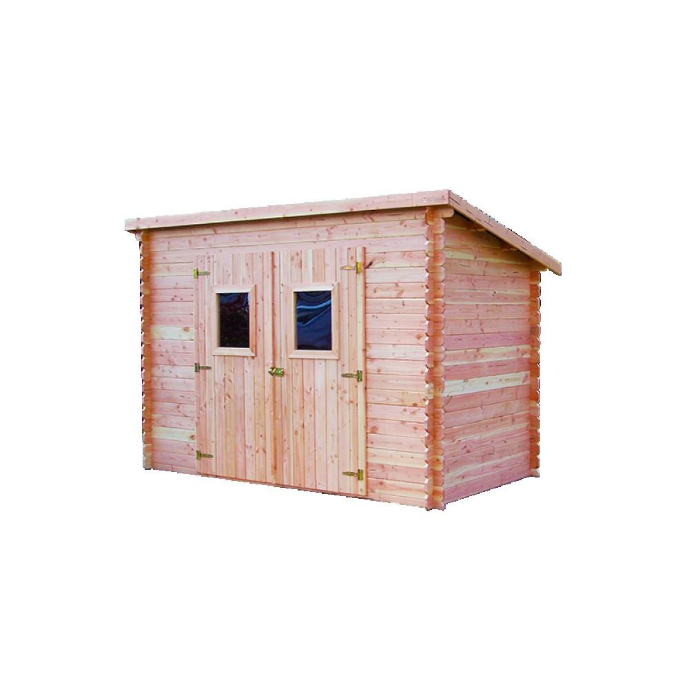 abri de jardin en madriers douglas 20 mm sans plancher toit dalmat