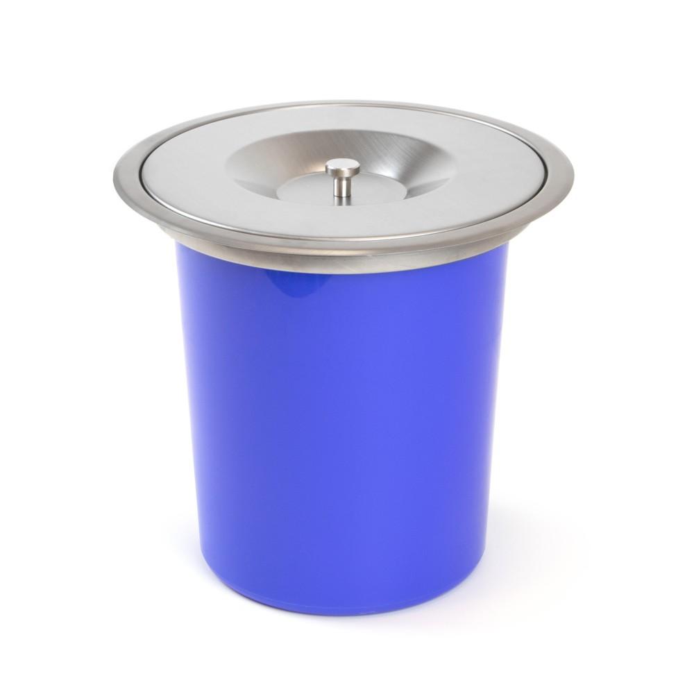 poubelle encastrable pour plan de travail de cuisine capacite 8 litres emuca sur bricozor