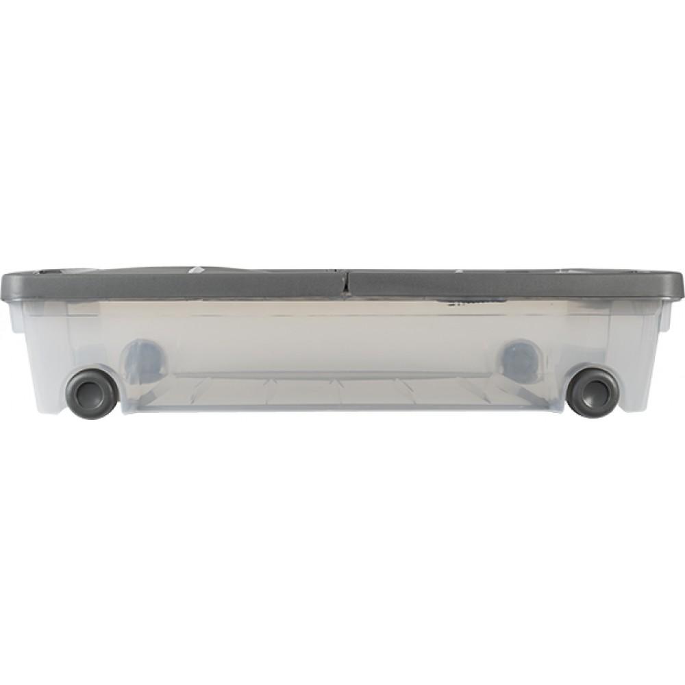 boite rangement sous lit avec roulette 50 litres eda plastiques