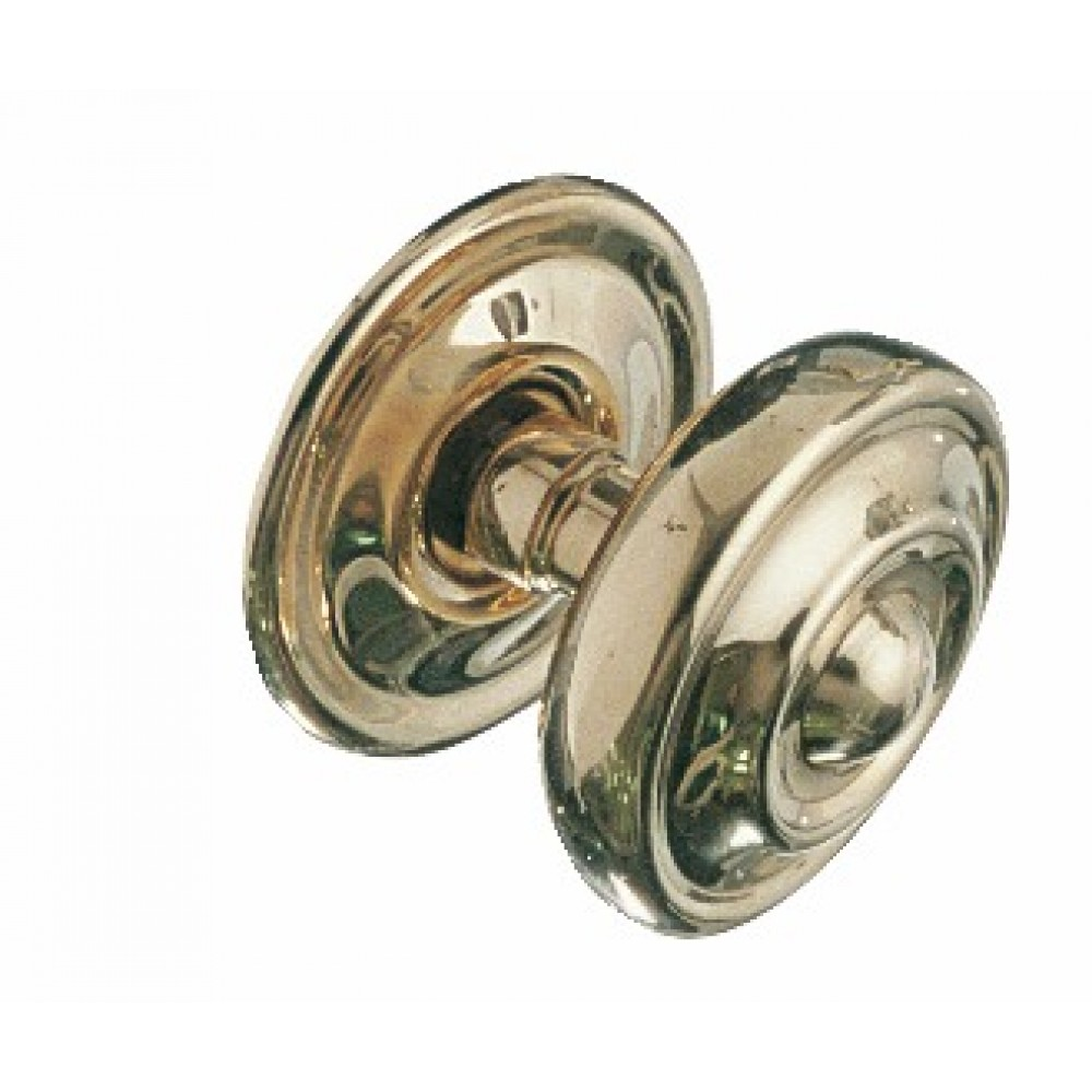 bouton central pour porte laiton poli 85 mm tige chainette