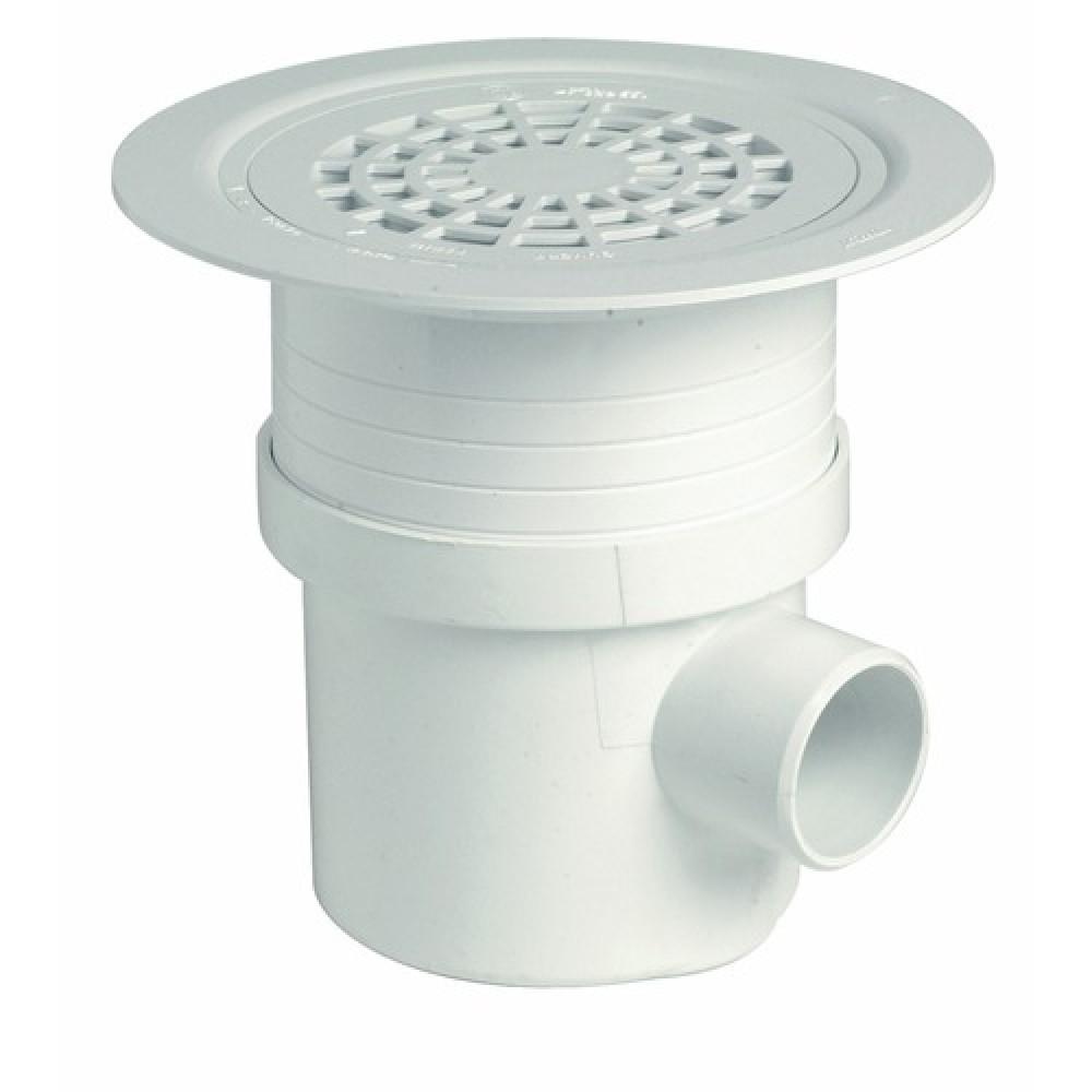 siphon de sol pvc docia systeme grille pvc blanche diametre 192 mm
