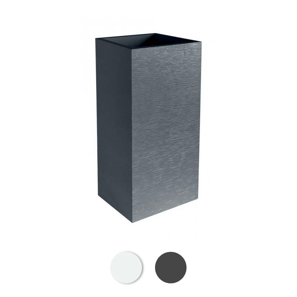 pot carre hauteur 80 cm contenance 31 litres graphit eda plastiques sur bricozor